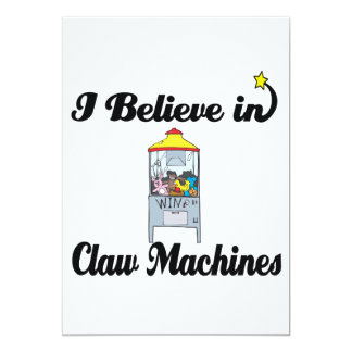 i believe in claw machines card