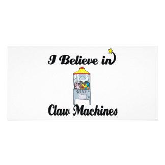 i believe in claw machines photo card
