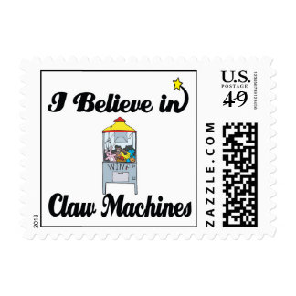 i believe in claw machines stamp