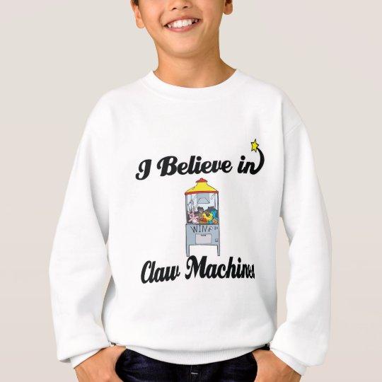 i believe in claw machines sweatshirt