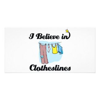i believe in clotheslines photo greeting card