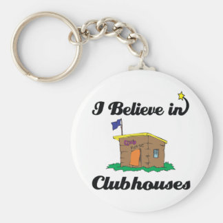 i believe in clubhouses key chain
