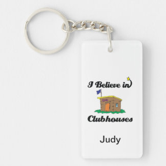 i believe in clubhouses acrylic key chain