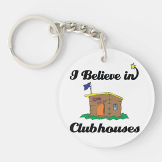 i believe in clubhouses round acrylic key chain