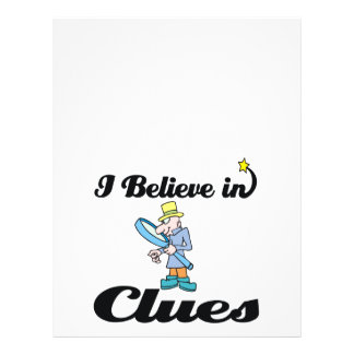 "i believe in clues 8.5"" x 11"" flyer"