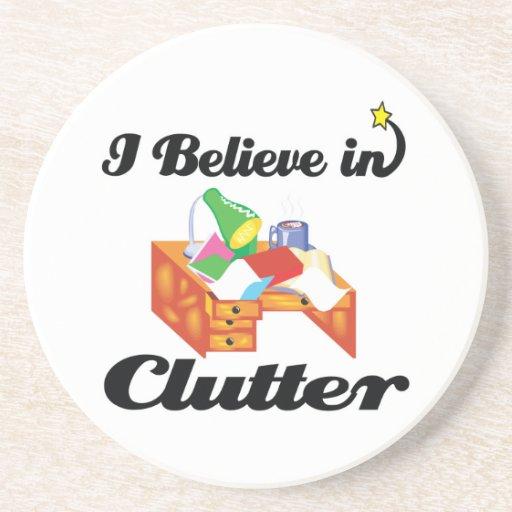i believe in clutter coasters