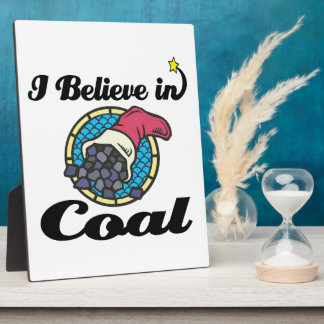 i believe in coal display plaques