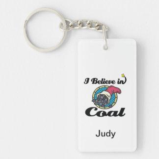 i believe in coal Double-Sided rectangular acrylic keychain
