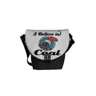 i believe in coal messenger bags