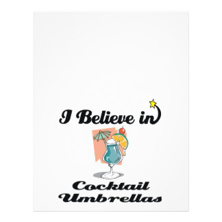 "i believe in cocktail umbrellas 8.5"" x 11"" flyer"