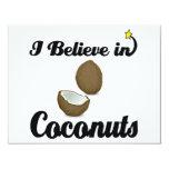 i believe in coconuts invitation