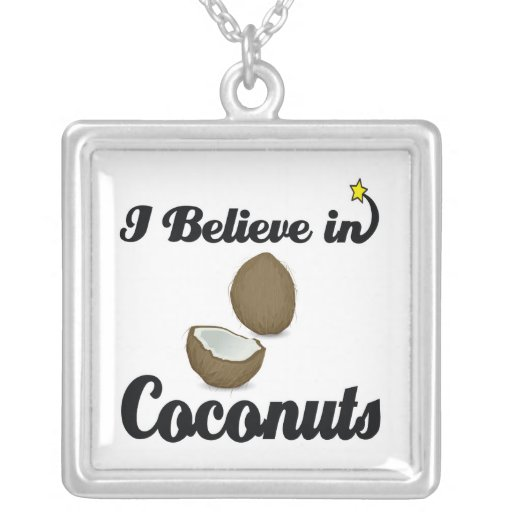 i believe in coconuts necklace