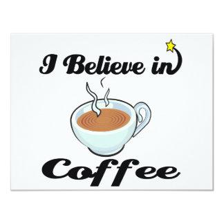 i believe in coffee 4.25x5.5 paper invitation card