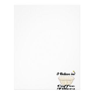 i believe in coffee filters letterhead