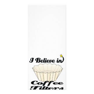 i believe in coffee filters custom rack card