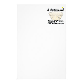 i believe in coffee filters custom stationery