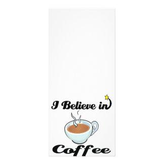 i believe in coffee rack card