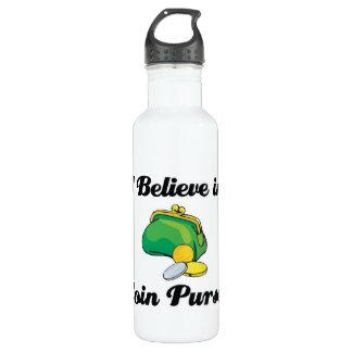 i believe in coin purses water bottle