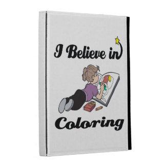 i believe in coloring iPad folio covers