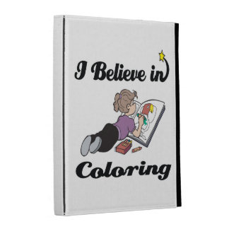 i believe in coloring iPad folio covers