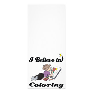 i believe in coloring full color rack card