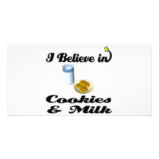 i believe in cookies and milk photo cards