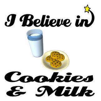 i believe in cookies and milk standing photo sculpture