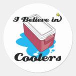 i believe in coolers classic round sticker