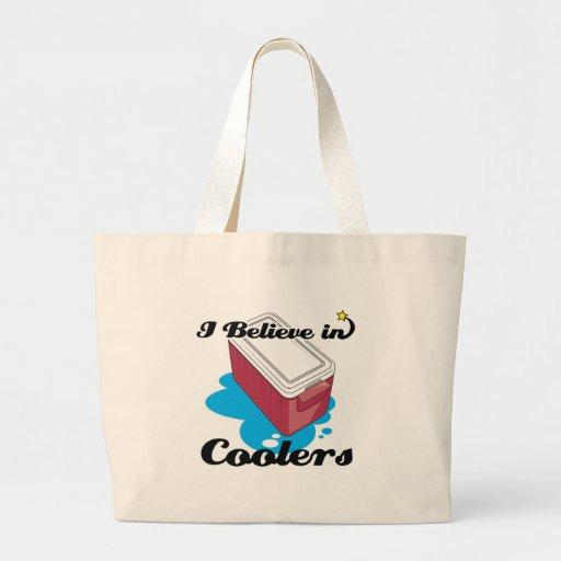 i believe in coolers jumbo tote bag