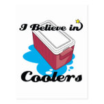 i believe in coolers postcard