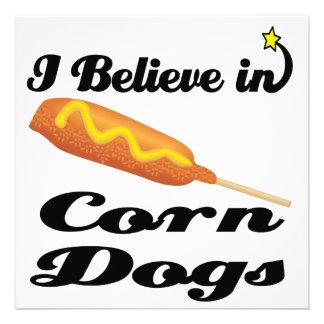 i believe in corn dogs personalized invites