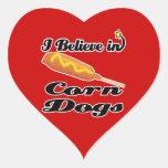 i believe in corn dogs sticker
