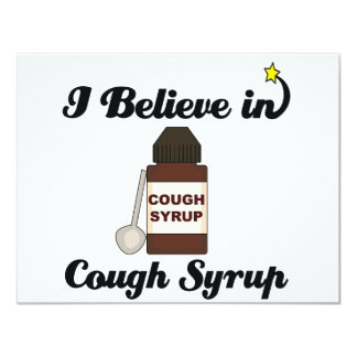 """i believe in cough syrup 4.25"""" x 5.5"""" invitation card"""