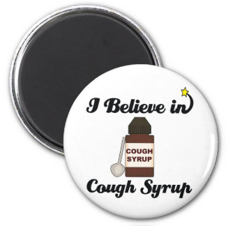 i believe in cough syrup refrigerator magnets