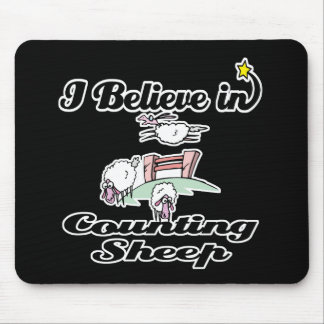 i believe in counting sheep mouse pad