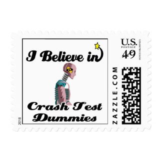 i believe in crash test dummies stamp