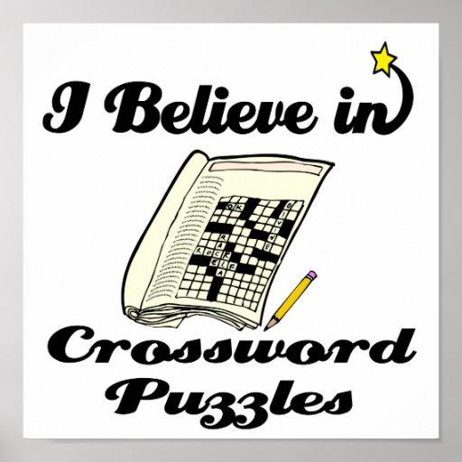 i believe in crossword puzzles poster
