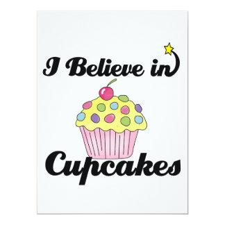 "i believe in cupcakes 6.5"" x 8.75"" invitation card"