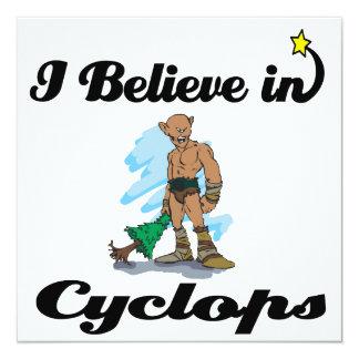 i believe in cyclops custom invitations