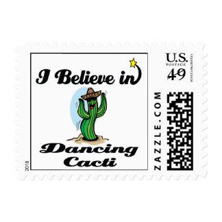 i believe in dancing cacti stamp