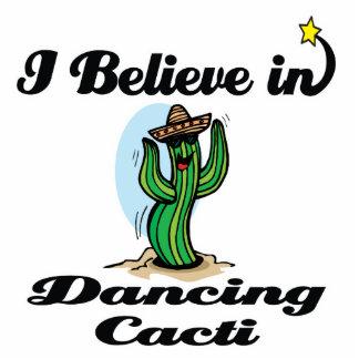 i believe in dancing cacti standing photo sculpture