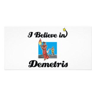 i believe in demetris photo greeting card