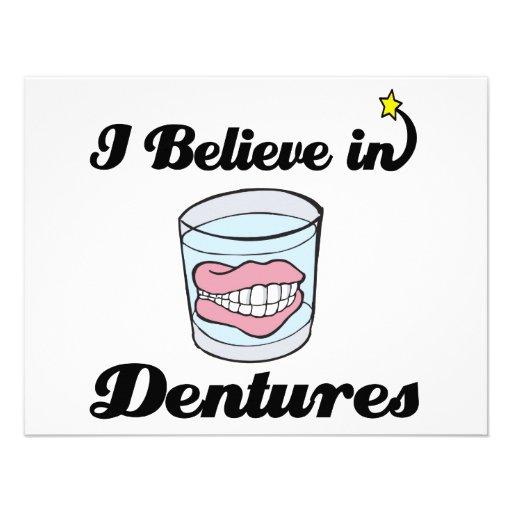 i believe in dentures invite