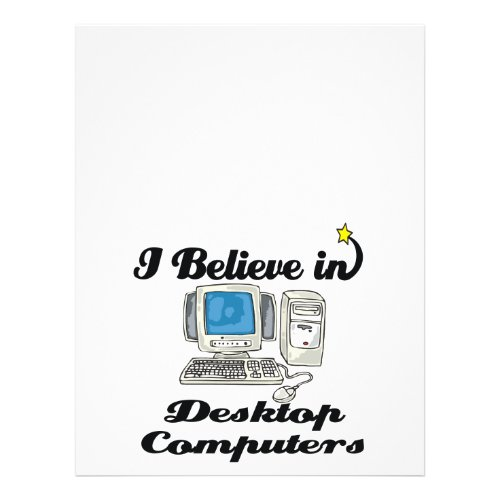 i believe in desktop computers flyer