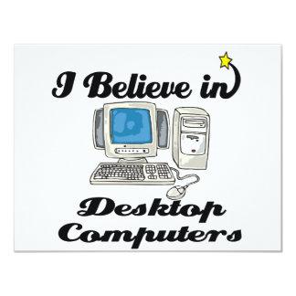i believe in desktop computers personalized announcement