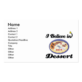 i believe in dessert Double-Sided standard business cards (Pack of 100)
