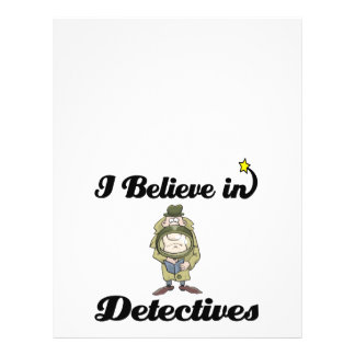 "i believe in detectives 8.5"" x 11"" flyer"