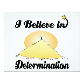 i believe in determination invites