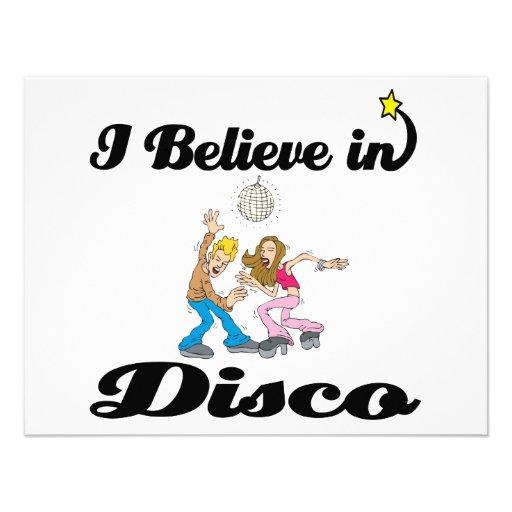 i believe in disco personalized invitation