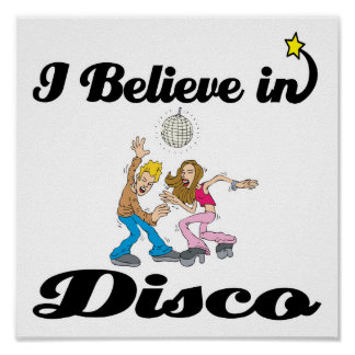 i believe in disco poster